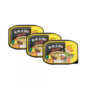 Lucky Bear Self Heating Hotpot Suan Cai – Sour Vegetable Flavour (Box 3x300g)