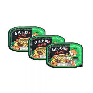Lucky Bear Self Heating Hotpot Teng Jiao – Sichuan Green Pepper Flavour (Box 3x300g)