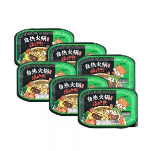 Lucky Bear Self Heating Hotpot Teng Jiao – Sichuan Green Pepper Flavour (Box 6x300g)