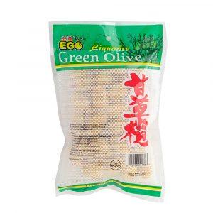 EGO Liquorice Green Olives 300g