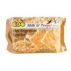 EGO Oat Digestive Crackers – Milk & Peanut Flavour 240g