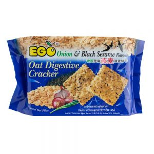 EGO Oat Digestive Crackers – Black Sesame and Onion Flavour 240g