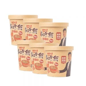 Lucky Bear Suan La Fen – Sour & Spicy Noodles 幸运小熊酸辣粉 (Box 6x136g)