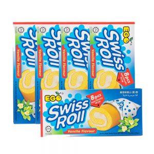 EGO Swiss Roll – Vanilla Flavour (Box 5x176g)