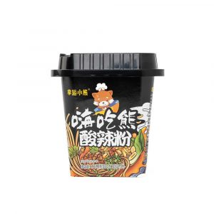 Lucky Bear Suan La Fen – Sour & Spicy Noodles 幸运小熊酸辣粉 122g (Black Edition)